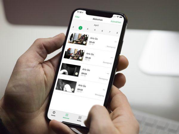 arlo-go-app-bibliothek